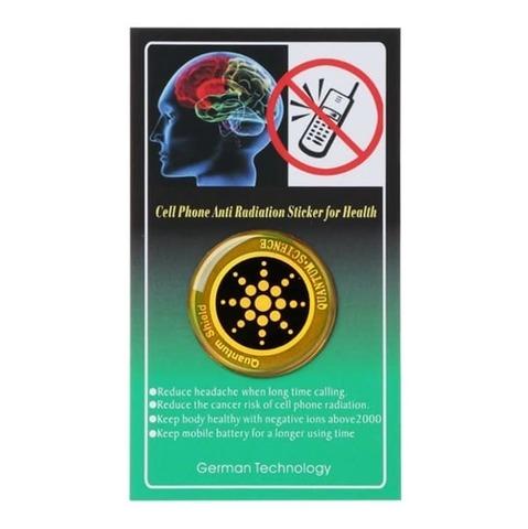 Защитный стикер от излучения золотой