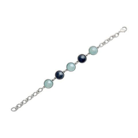Классический браслет Pearl B.S.Agate-Sodalite C1362.21.22 BL/S