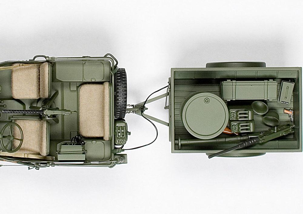 Коллекционная модель Jeep Willys MB Usa Army 1941 With TrailerAnd Accessories