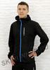 Беговой костюм с капюшоном Nordski Run Black-Blue мужской с прямыми брюками