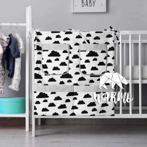 органайзер для ліжечка з чорними хмаринками фото
