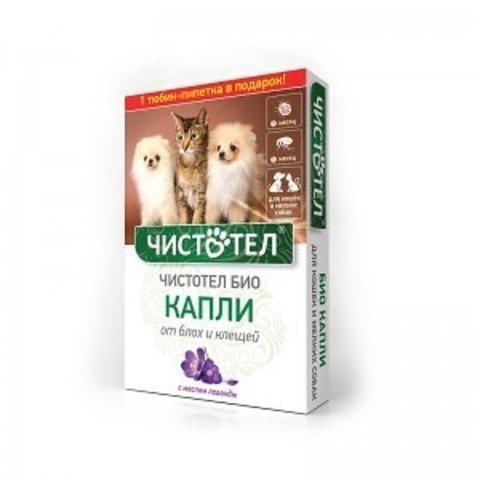 Чистотел биокапли для кошек и мелких собак 2 пипетки