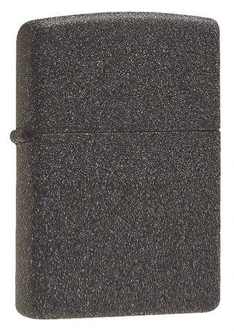Зажигалка Zippo с покрытием Iron Stone, латунь/сталь, серая, матовая, 36x12x56 мм123