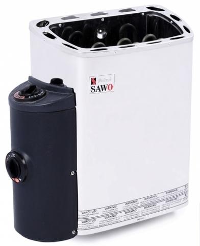 Электрическая печь SAWO MINI MN-30NB-Z (3 кВт, встроенный пульт, внутри оцинковка, снаружи нержавейка)