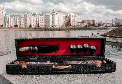 """Набор шампуров в коробке кожзам """"Элит-S"""" №12"""