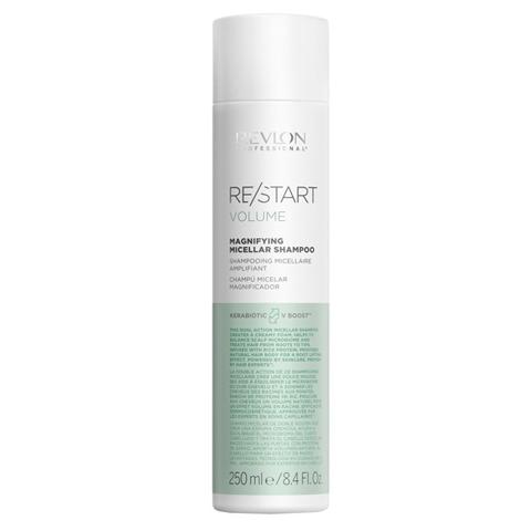 REVLON Restart Volume: Мицеллярный шампунь для тонких волос (Magnifying Micellar Shampoo), 250мл/1л