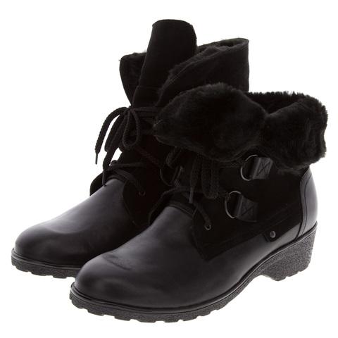 571401 Ботинки женские черные. КупиРазмер — обувь больших размеров марки Делфино