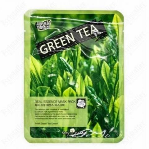 May Island Тканевая маска с зеленым чаем Real Essence Mask Pack Green Tea, 1 шт