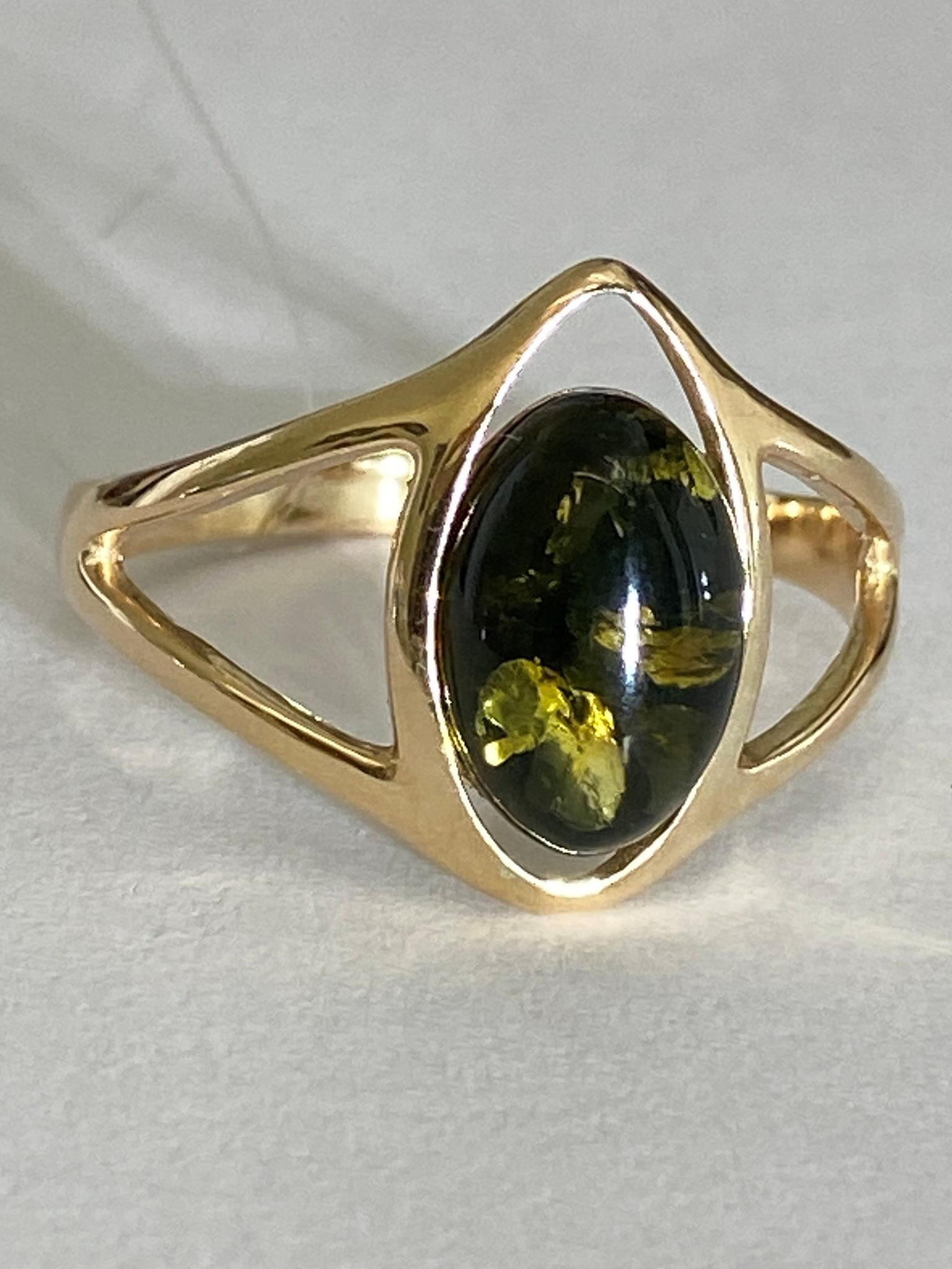 Янтарь 04412 (кольцо из серебра)