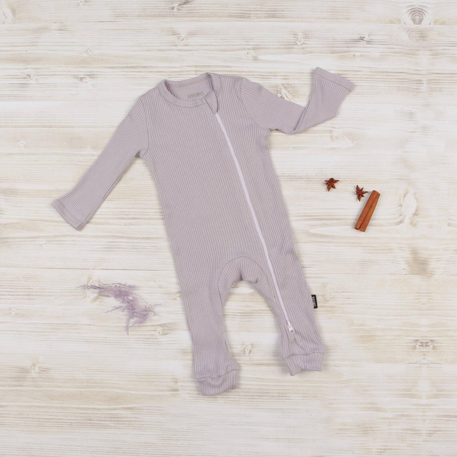 Комбинезон на молнии «Lilac» с открытой ножкой