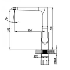 Смеситель KAISER Sena 74144 для кухни схема