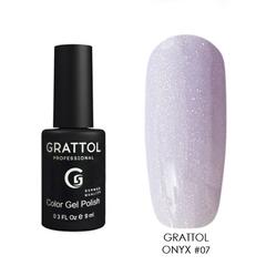 Grattol, Гель-лак Luxury Stones № 07, Onyx, 9 мл