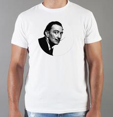 Футболка с принтом  Сальвадор Дали  (Salvador Dalí) белая 0011