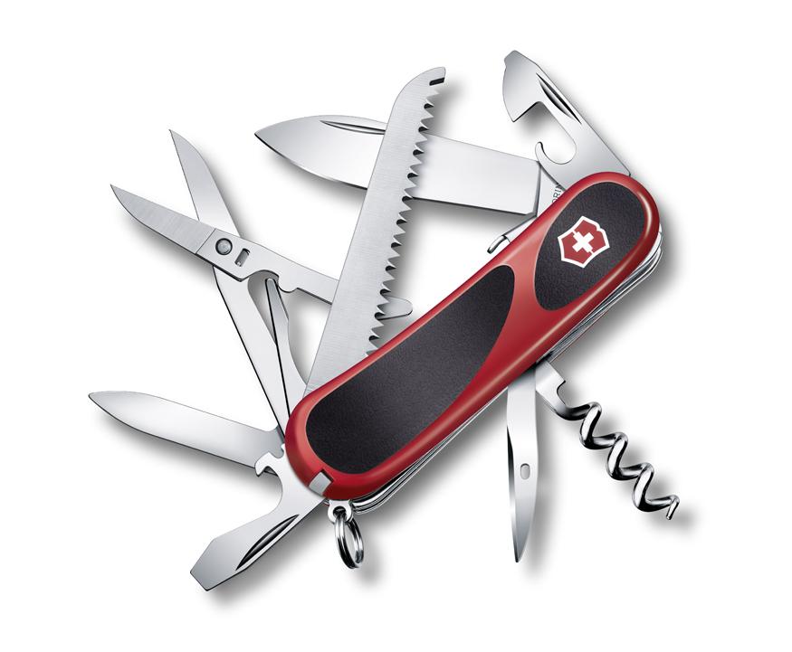 Нож Victorinox EvoGrip S17, 85 мм, 15 функций, красный с черным