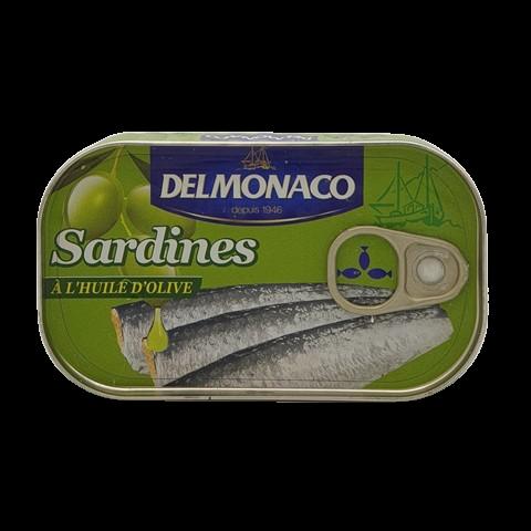 Сардины в оливковом масле DELMONACO, 125 гр