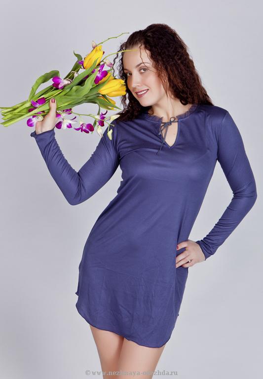 Короткая ночная сорочка Blue Lemon
