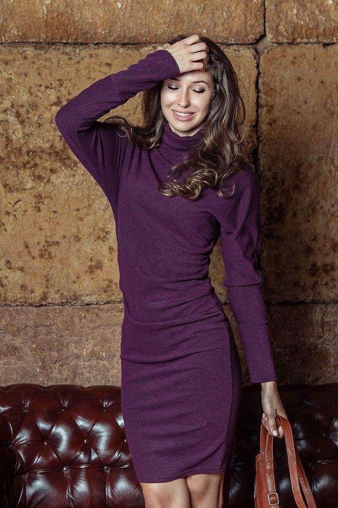 Платья Платье F136-03 футляр трикотаж фиолет HUrRb-UoezY.jpg