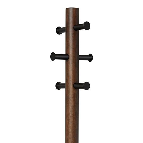 Вешалка-табурет Pillar напольная черный-орех