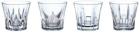 CLASSIX - Набор стаканов 4 шт. для виски низких 247 мл стеклянных (set 4 pcs)