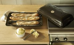 Форма Baguettes для выпечки багета Emile Henry (лён)