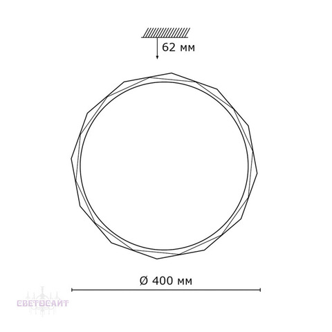 Настенно-потолочный светильник 2045/DL серии GINO