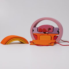 Домик мобильный розово-оранжевый (Grimms)