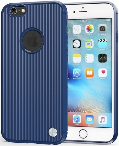 Чехол для iPhone 6 Plus (iPhone 6S Plus) цвет Blue (синий), серия Bevel от Caseport