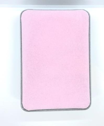 777226- Большая, подарочная коробка из бархата для упаковки комплекта украшений, серо-розовая