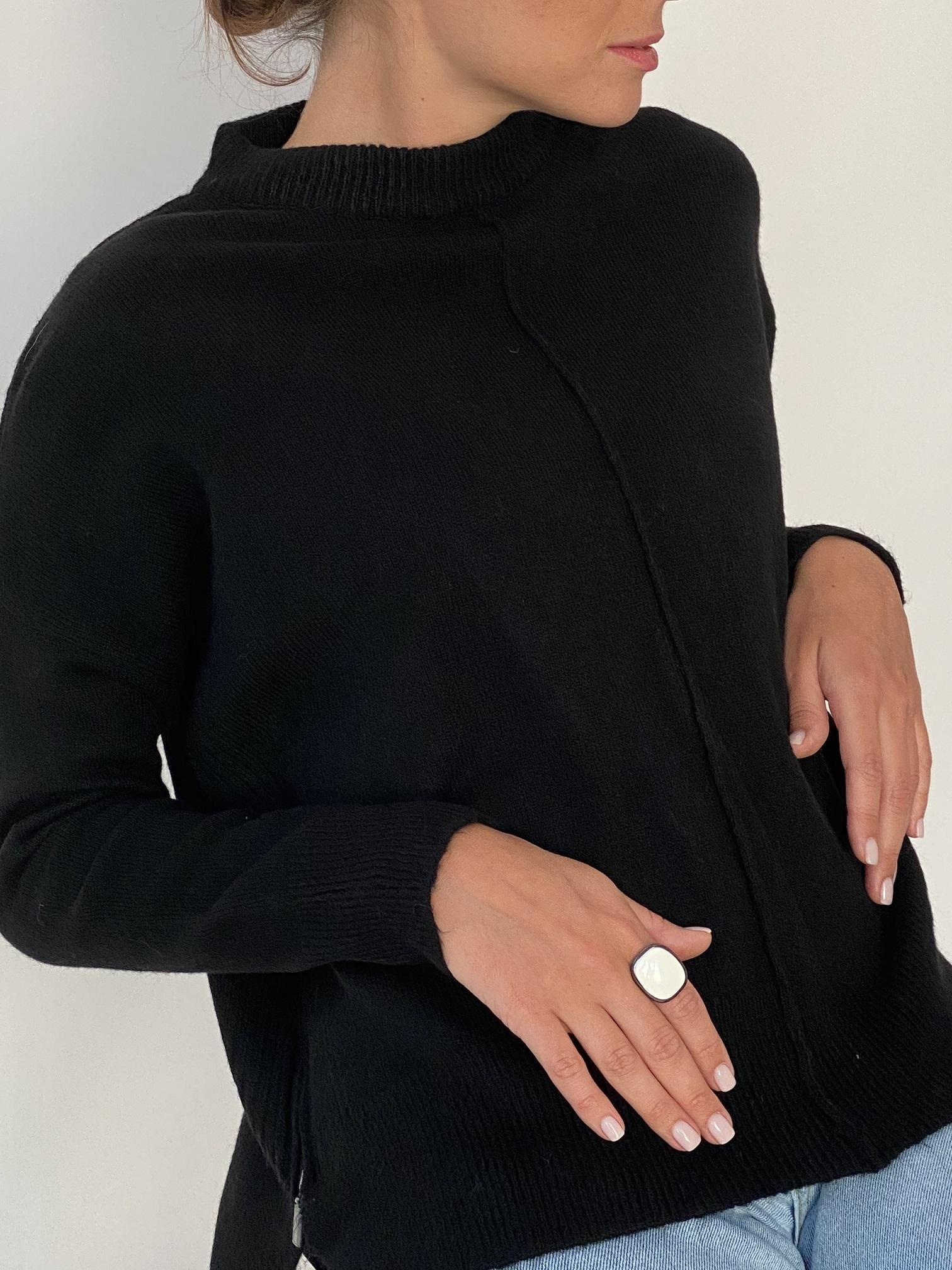 Джемпер , UNO, Zip line (черный)