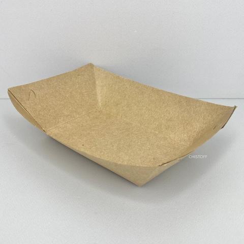 Тарелка бумажная картон лодочка