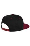 Бейсболка черная с бордовым фото 2