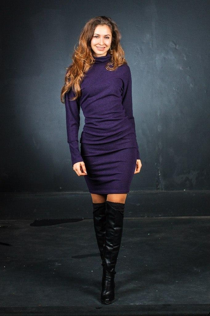 Платья Платье F136-03 футляр трикотаж фиолет krhrFnT78Ow.jpg