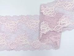 Эластичное кружево, ОПТ, 17 см, лавандово-розовое, (Арт: EK-2198), м