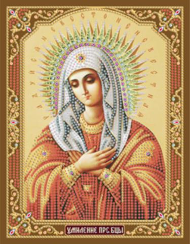 Алмазная Мозаика + Рамка 28x34 Икона Божией Матери Умиление (арт. DA-5862)