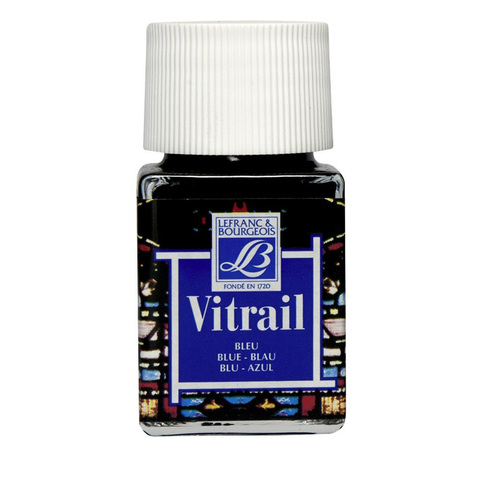 Краска по стеклу Lefranc&Bourgeois VETRAIL 50 мл 025, синий