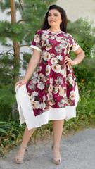 Адажио літо. Святкова сукня великих розмірів. Бордо троянда.