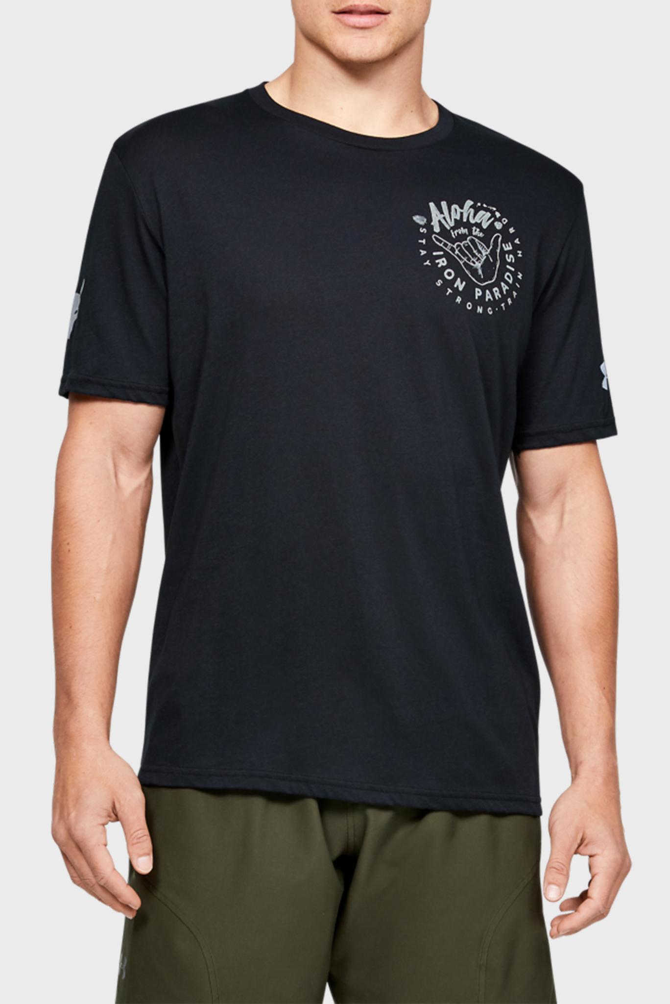 Мужская черная спортивная футболка Project Rock Iron Paradise SS Under Armour