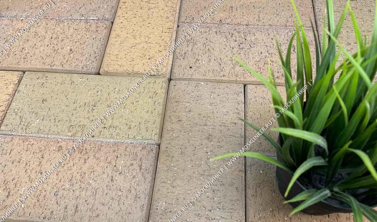 Feldhaus Klinker - P203KDF, Areno trigo, песочно-желтый пестрый, с оттенками, 200x100x52 - Клинкерная тротуарная брусчатка