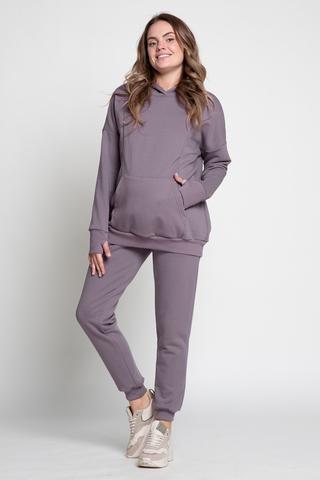Спортивный костюм для беременных и кормящих 13043 слива