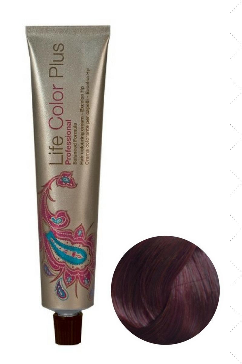 Крем-краска 6.62 Темный блондин фиолетово-красный Life Color Plus FarmaVita,100 мл
