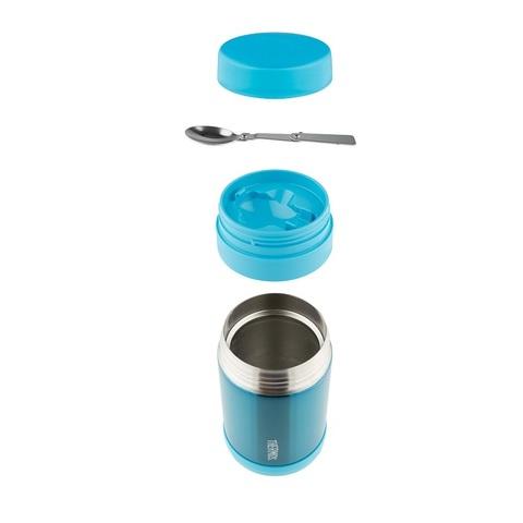 Термос детский для еды Thermos F3024TL Stainless Steel (0,47 литра), с ложкой, мятный