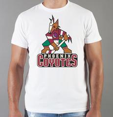 Футболка с принтом НХЛ Аризона Койотис (NHL Arizona Coyotes) белая 008