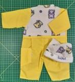 Комбинезон флис/плащевка (ДИСКОНТ) - Желтый. Одежда для кукол, пупсов и мягких игрушек.
