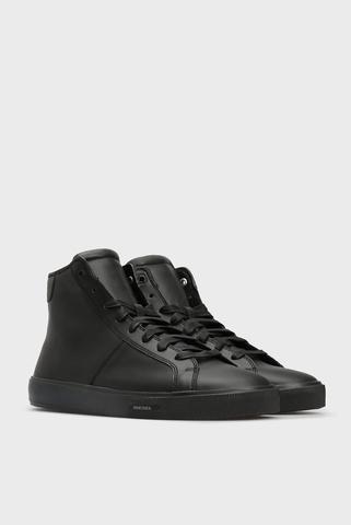 Мужские черные кожаные хайтопы S-MYDORI MC Diesel