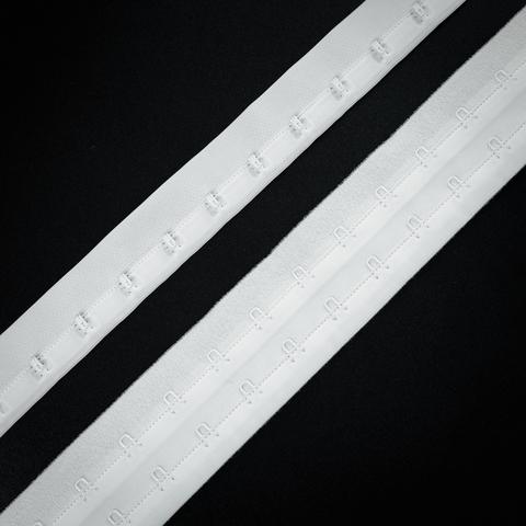 Крючки на ленте двухрядные белые (цв. 001)