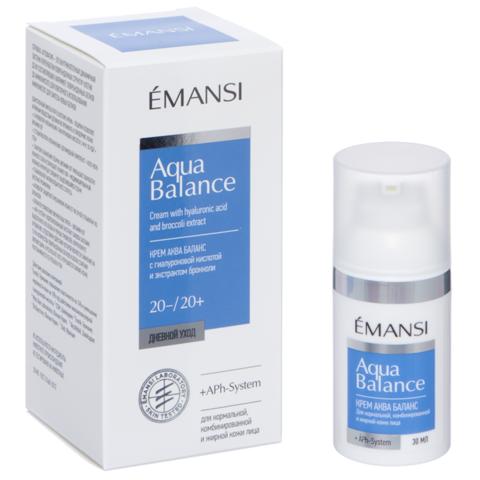 EMANSI Крем Аква баланс с гиалуроновой кислотой и экстрактом брокколи для нормальной, комбинированной и жирной кожи