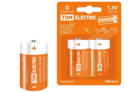 Элемент питания LR20 D Alkaline 1,5V BP-2 TDM