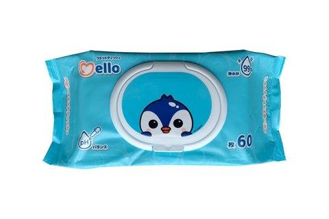 Детские влажные салфетки 60шт Mello Мелло