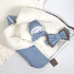СуперМамкет. Конверт-одеяло всесезонное Мультикокон ®, Soft, blue stone вид 2
