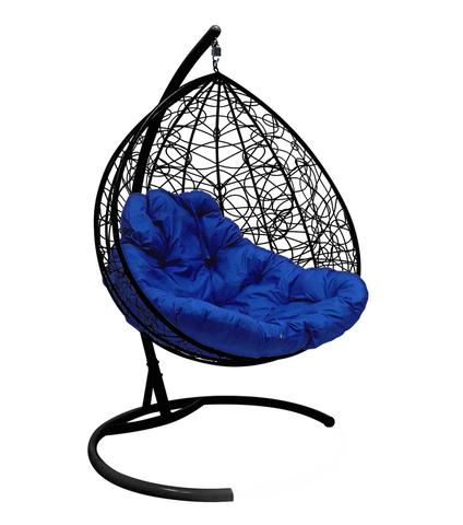 Кресло подвесное Lagos TWIN black/blue